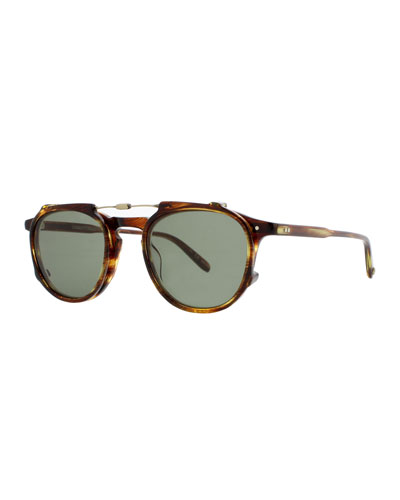 Hampton Square Acetate Sunglasses, Chestnut