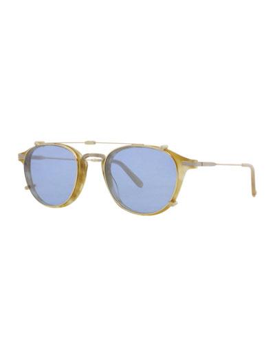 Hampton Square Sunglasses, Blonde