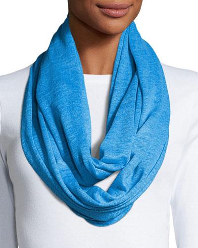 Linen Knit Infinity Scarf