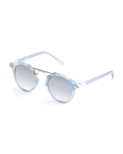 St. Louis Round Gradient Sunglasses, Blue