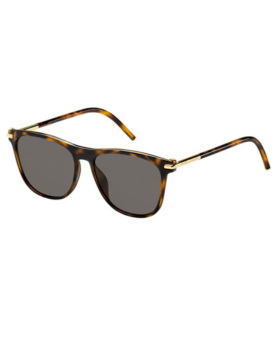 Square Monochromatic Sunglasses, Brown