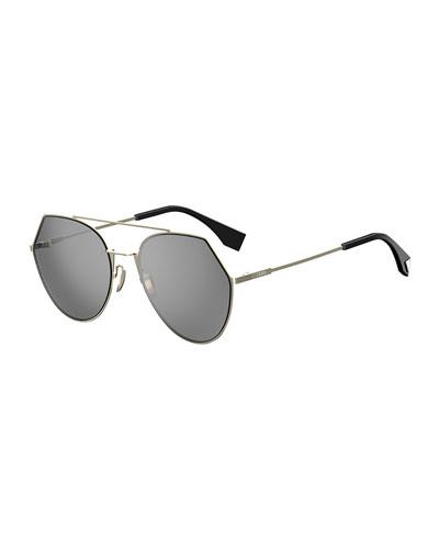 Eyeline Mitered Aviator Sunglasses