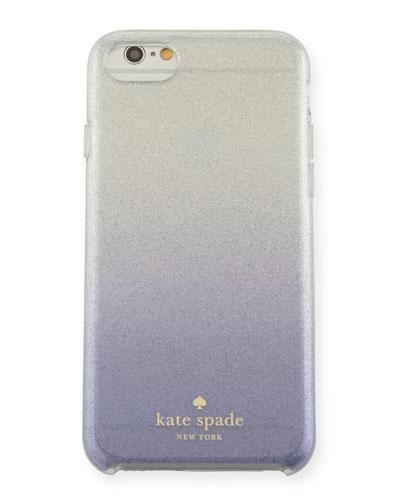glitter ombre iPhone 7 case, nightlife blue