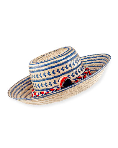 Guajiro Hat with Pompoms