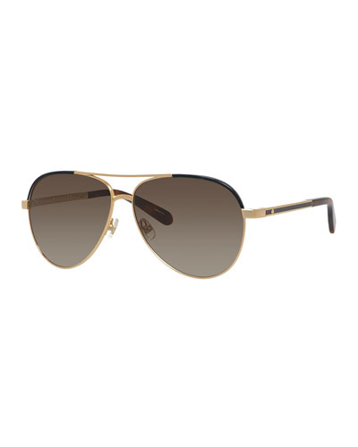 amaris two-tone aviator sunglasses
