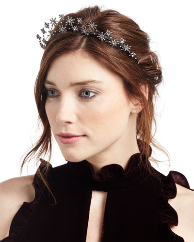 Starlight Crystal Headband, Dark Gray