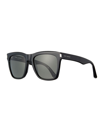 Devon Square Monochromatic Sunglasses, Black