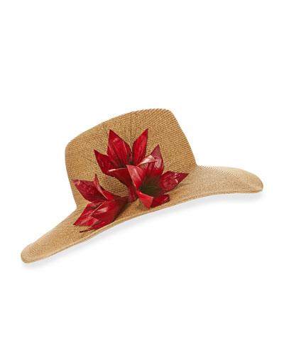Cassidy Toyo-Blend Wide-Brim Fedora Hat, Camel