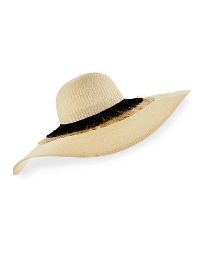 Sunny Floppy Toyo Sun Hat, Ivory