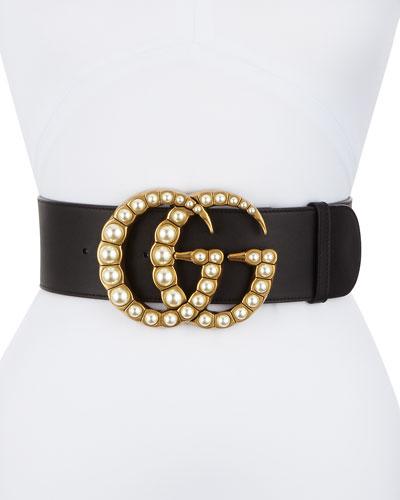 Leather Gg Belt   Neiman Marcus d8b05f8fa443