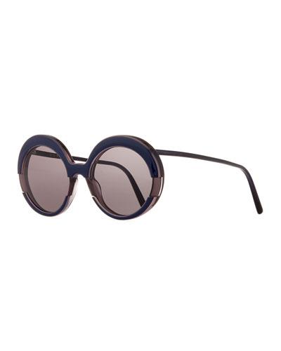 Sunglasses Cutout  cutout round sunglasses neiman marcus
