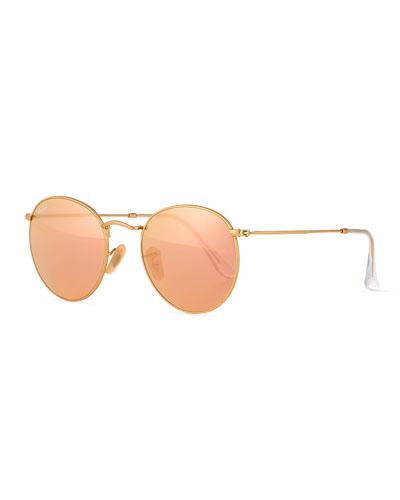 Round Gold Sunglasses | Neiman Marcus
