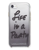 Life Is A Party Ombré Phone Case, Black