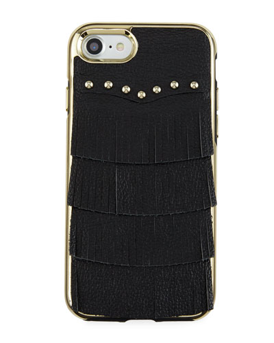 Fringe Leather Studded iPhone 7 Case