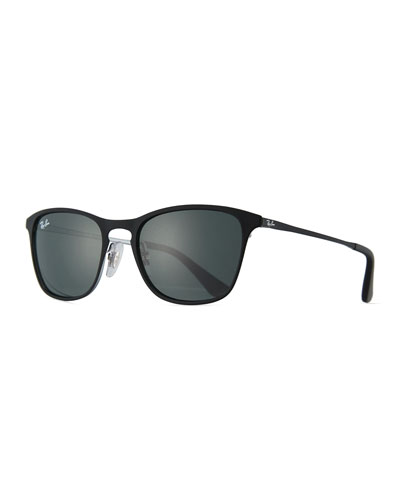 Junior Chris Monochromatic Square Sunglasses, Black