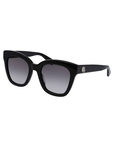Gradient Cat-Eye Sunglasses, Black