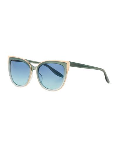 Winette Gradient Cat-Eye Sunglasses, Blue