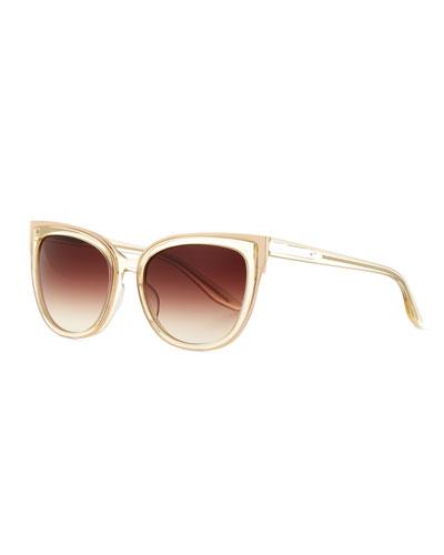 Winette Gradient Cat-Eye Sunglasses, Neutral