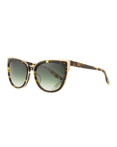 Winette Gradient Universal-Fit Cat-Eye Sunglasses, Tortoise