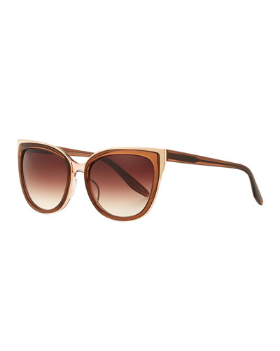 Winette Gradient Cat-Eye Sunglasses, Brown