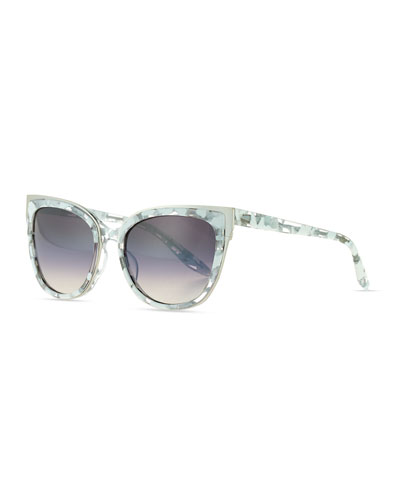 Winette Gradient Cat-Eye Sunglasses, White