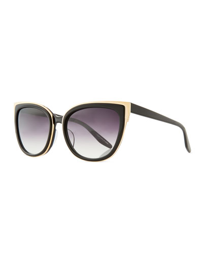 Winette Gradient Universal-Fit Cat-Eye Sunglasses, Black