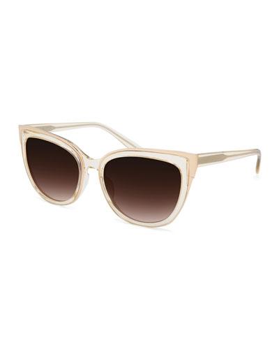 Winette Universal-Fit Cat-Eye Sunglasses, Neutral