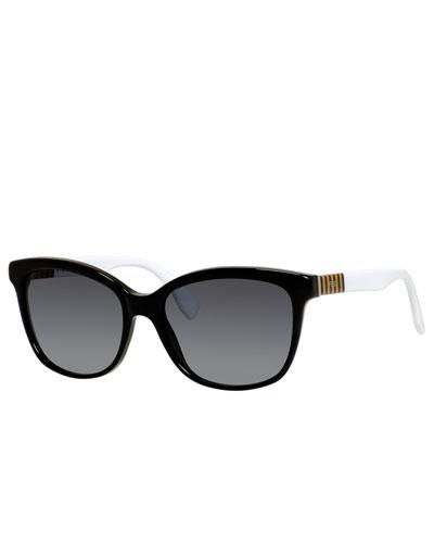 Gradient Acetate Square Sunglasses