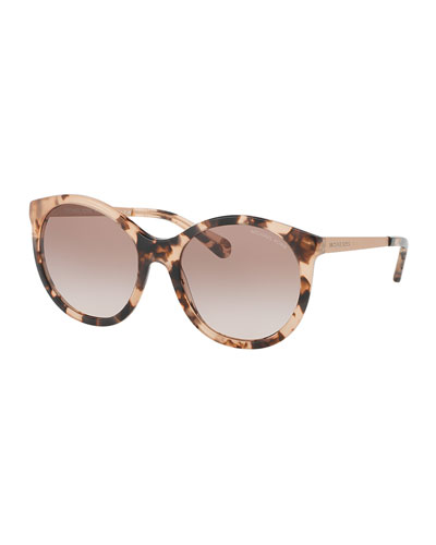 Gradient Butterfly Sunglasses, Peach Tortoise