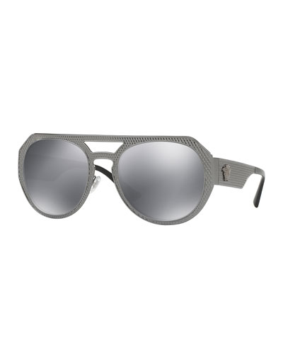 black reflective aviator sunglasses  Black Aviator Sunglasses