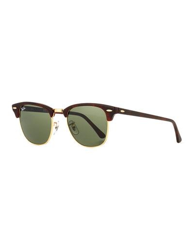 Clubmaster® Monochromatic Sunglasses, Dark Brown