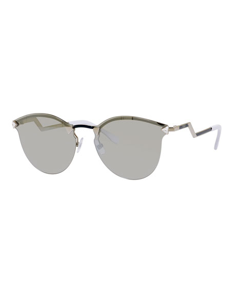 Fendi Rimless Sunglasses with Stepped Arms