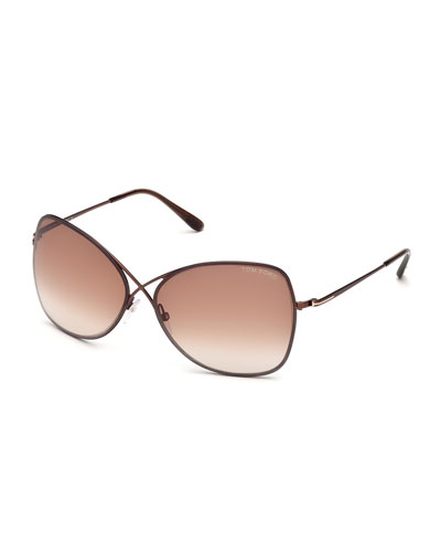 quick look tom ford colette metal frame butterfly sunglasses