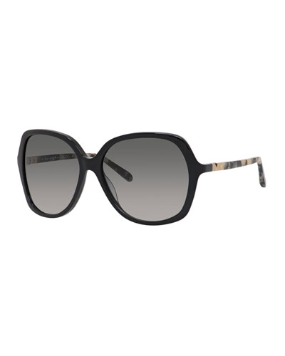 jonell gradient oversized sunglasses