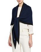 Loro Piana Scialle Twice Golden Knit Triangle Shawl