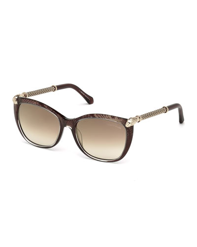 Gradient Braided-Arms Sunglasses