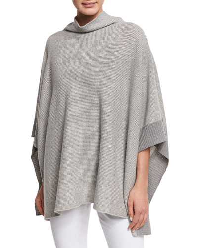 Fisher Project Funnel-Neck Reclaimed Cashmere Poncho