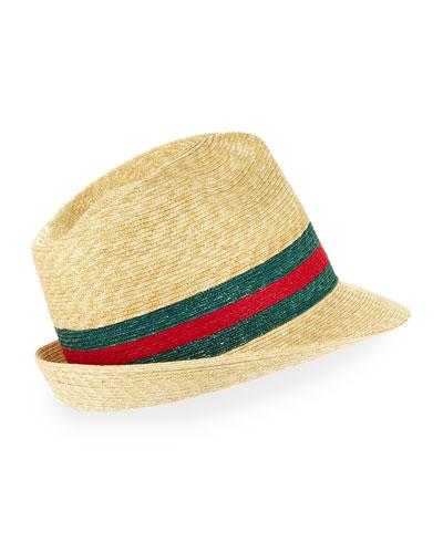Abacá Straw Fedora Hat