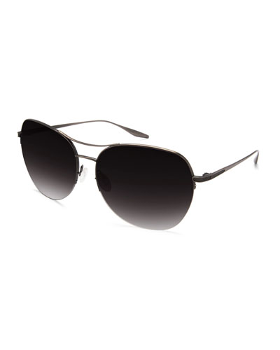 Quimby Titanium Butterfly Sunglasses, Pewter