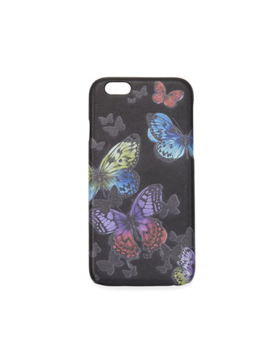 Flutter iPhone Case, Black/Multicolor