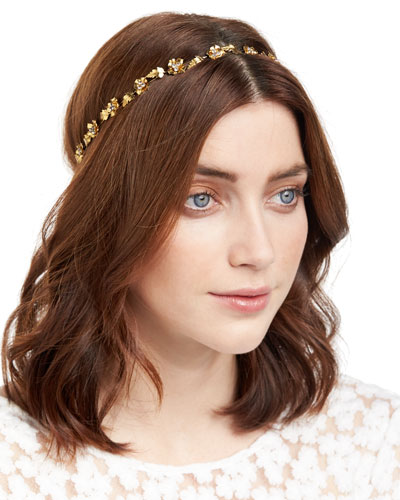 Margaux Flower & Leaf Bandeau Headband