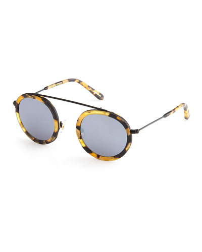 Conti Matte Mirrored Aviator Sunglasses
