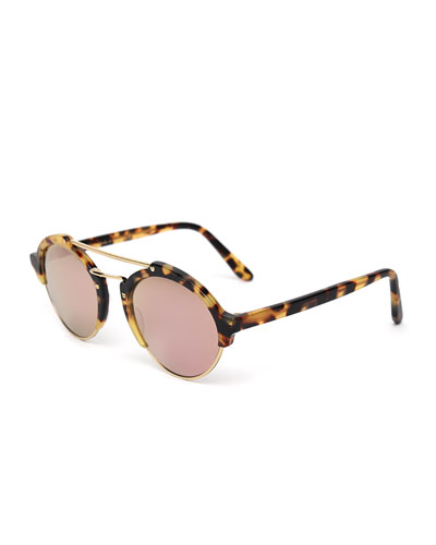 93a5c14a88e Quick Look. Illesteva · Milan II Mirrored Round Sunglasses