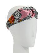 Marguerite Floral Silk Duchesse Headband