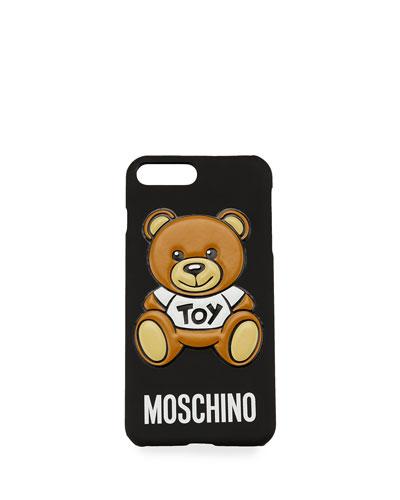Teddy Bear iPhone 6 Plus Case, Black/Multi