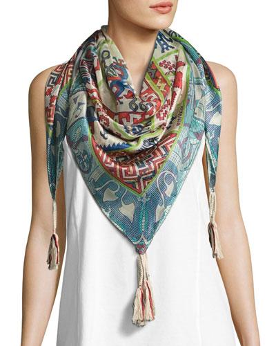 Jordyn Printed Silk Scarf