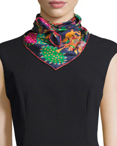 Oraya South Asian Silk Scarf