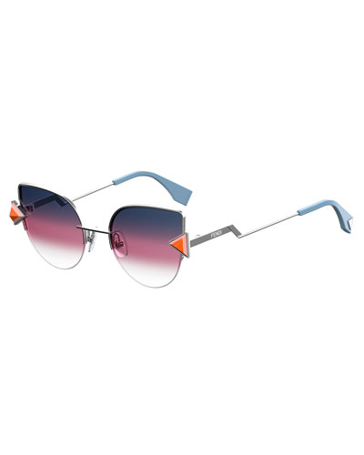 Rainbow Metal Cat-Eye Sunglasses