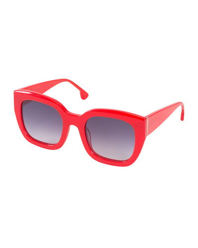 Aberdeen Square Sunglasses, Red