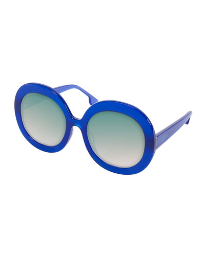 Melrose Round Sunglasses, Blue